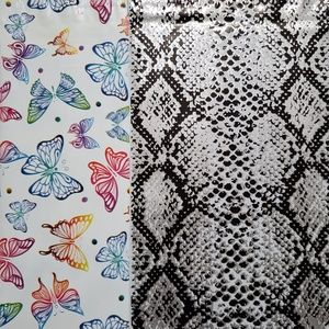 50 designer butterfly snake skin 6x9 poly mailers